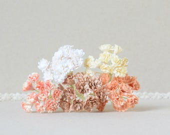 10 mm   / 50   Mixed colors of  Paper  flowers , Gypsophila  paper  flowers , Baby's breath paper flowers