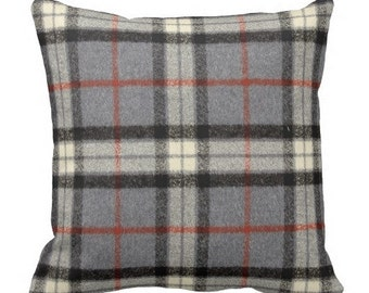 grey pillows, plaid pillow cover,plaid pillow, plaid pillow covers,plaid pillows, flannel throw pillows, grey plaid pillow