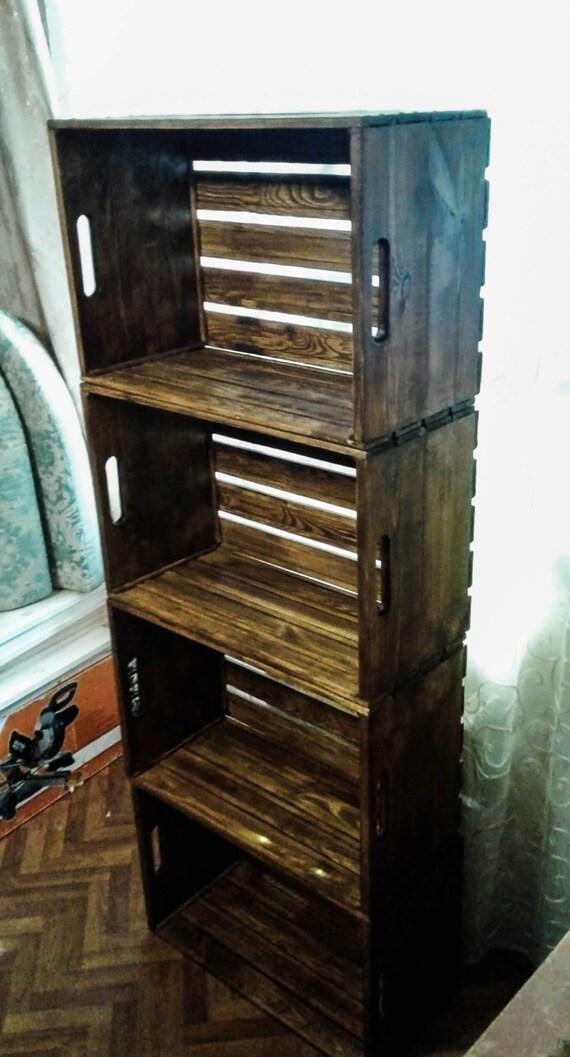 Estanterias modulares biblioteca de pino muebles rústicos