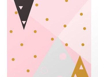 Triangular Jungle Print
