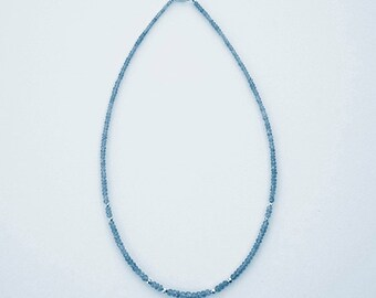 Necklace with Tanzanite, 18.25 inches