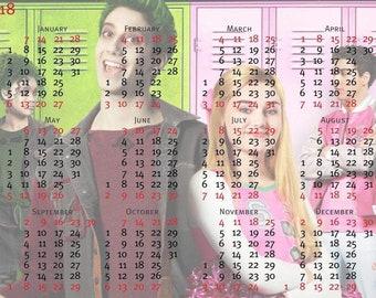 Laminated calendars zombies zed Addison