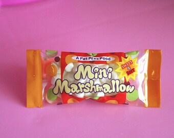Marshmallow bag hairclip