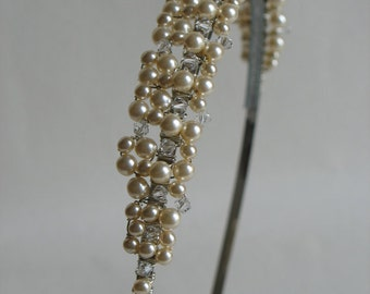 Wedding hair piece. Bridal headband. Wedding tiara.