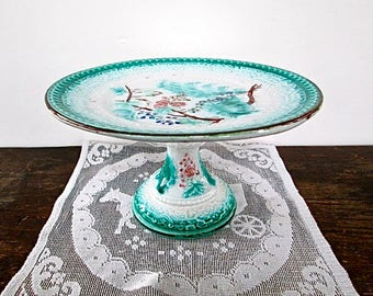 Sale Lovely Majolica Cake Stand
