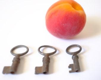 Small old keys, key lock vintage Valentines Day gift idea