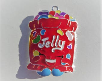 Jelly Bean Enamel Pendant, P27