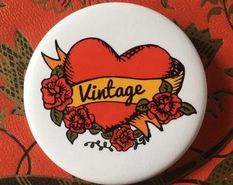 Vintage Love Button Pin by RICHARME