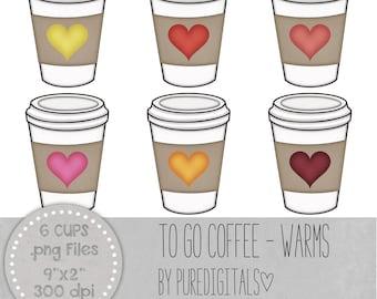 Coffee Cup Clip Art, Coffee Cup PNG, Digital Scrapbooking, Scrapbooks, Colored Coffee Cup, Digital Coffee Cup, Digital ClipArt