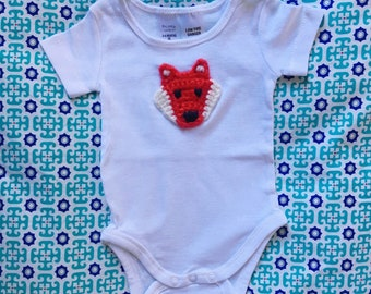 00 Onsies with Crochet Appliques
