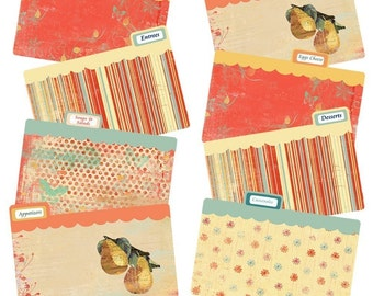 Recipe Tab Divider Cards Indian Summer Coordinates with Indian Summer Recipe Box