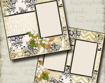 THE WEDDING - Eight - 2 Premade Scrapbook Pages - EZ Layout 664