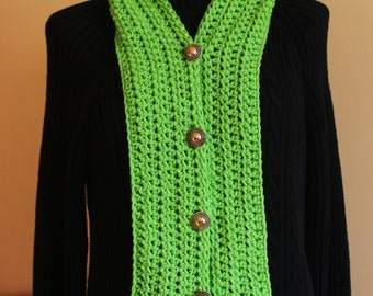 CROCHET PATTERN - The Shirt Front Scarf/  Cowl