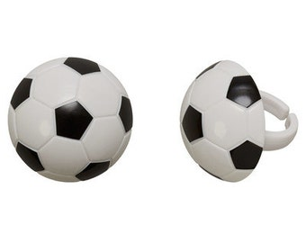 3-D SOCCER BALL Cupcake Rings