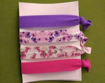 Wedding Hair Ties, Bridesmaid Gifts, Wedding Shower Favor, Floral Hair Ties, Birthday Gifts