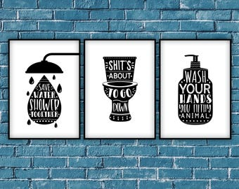 bathroom wall decor pictures. Bathroom Wall Decor,bathroom Set,bathroom Sign Set,save Water,Shower Together Decor Pictures