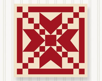 BQ006 - Barn Quilt - 6 Sizes - Head-Turning Curb Appeal - Premium Quality Lasts For Years & Years