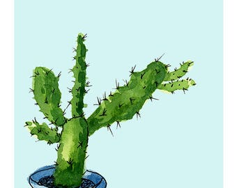 "Cactus ART PRINT ""Gracie"""