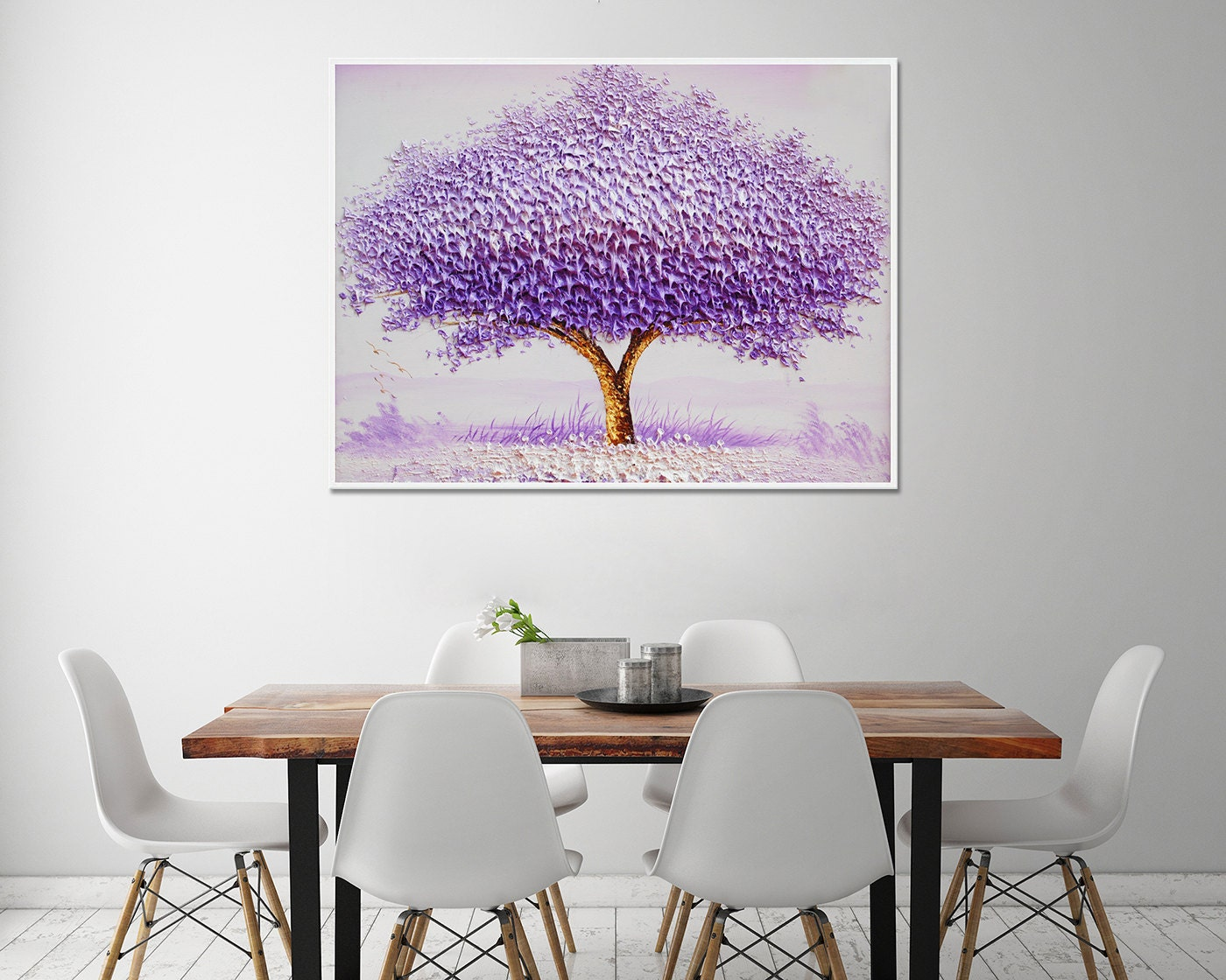 decoración para el hogar pintados a mano con marco 40 x 30
