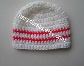 Baby Hat, Baby Crochet Hat, Boys Hat, Baby Boy Hat, Newborn Crochet Hat, Infant Crochet Hat, Newborn Hat, Infant Hat, Boys Beanie Hat