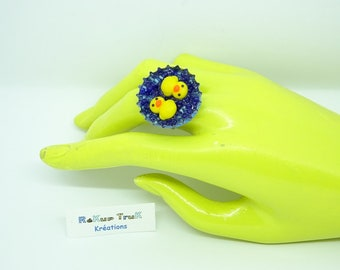 This Easter. Duck ring. Easter gift. Upcycling