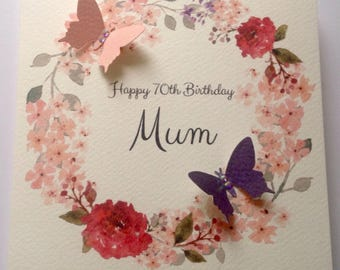 60th birthday card etsy personalised watercolour mum nan grandaughter daughter any name 30th 40th 50th 60th m4hsunfo