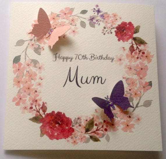Personalised Watercolour Mum Nan Grandaughter Daughter