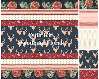 Woodland Baby Quilt Kit -  Baby Quilt Kit - Toddler Quilt Kit - Woodland Fusion Quilt Kit - Homemade Baby Quilt Kit - Handmade Quilt