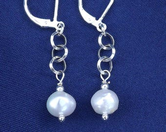 PEARL EARRINGS, freshwater pearl
