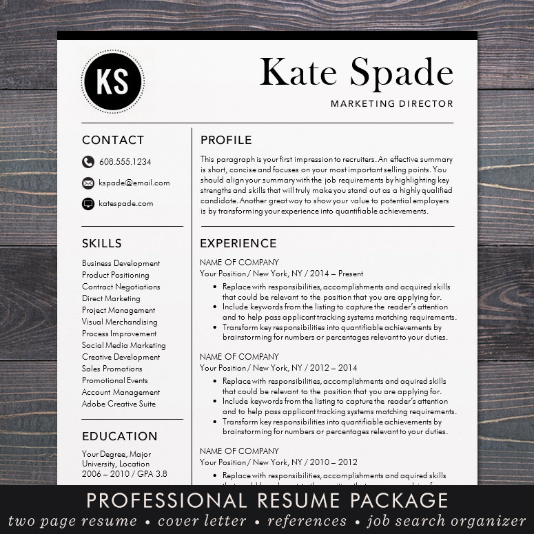 resume    cv template professional resume design for word mac