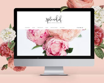 Feminine Wordpress Theme Responsive Wordpress Template Genesis Child Theme Photographer Wordpress Theme Ecommerce Wordpress Blog Theme