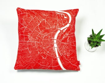 COLOGNE Map, Throw pillow for your home decor,  Map of COLOGNE Cushion Cover, Custom Wedding Pillow Cover, anniversary gift