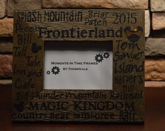 Disney World Frontierland Typography Frame
