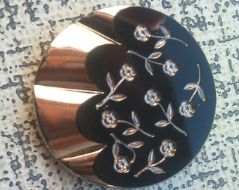 1940s Big Fluted Glass Lustre Buttons