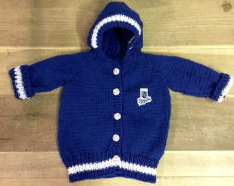 Knit Kansas City Royals Baby Sweater Made to Order
