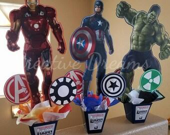 Captain America, Iron men & Hulk