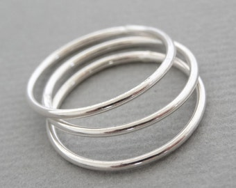 Super Thin Rings minimal stacking rings Sterling Silver smooth ring - pinky ring, midi ring, thumb ring sterling silver jewellery australia