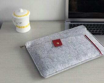 "Felt 13 inch Macbook Sleeve , 13 inch Laptop Sleeve , Felt Macbook 13 Case , Felt Macbook 13"" Sleeve , Felt Macbook Pro 13 Case #209"