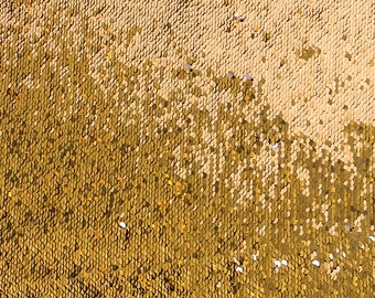 Two Sided Allover Sequins Fabric Gold Dragon Scales - Style 2840