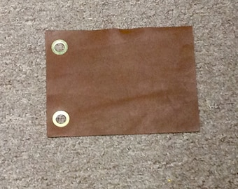 BR12. Package of 27 Saddle Brown Leather Cowhide Swatches