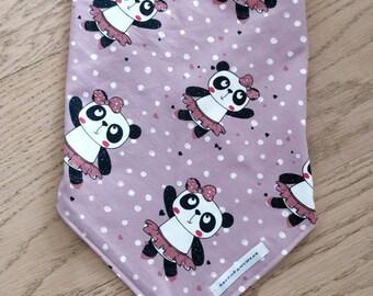 CutePandas pet bandana- dog bandana, dog neckwear, cat neckwear, pet bandana, tie on bandana, flower bandana, girl dog bandana