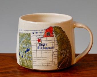Outer Richmond - San Francisco Map Mug