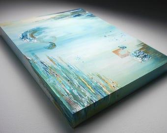 Underwater - Textured Abstract acrylic painting original art
