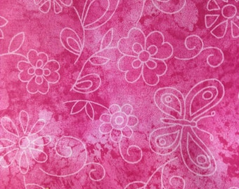 SALE - One Yard of Fabric Material - Sundrenched Butterfly