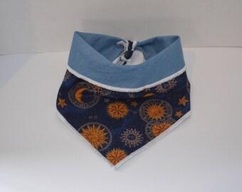 Moon Dust / dog bandana/ dog scarf / dog neckwear /  moon bandana / neckwear / puppy bandana / tie on / bandana