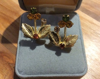 Sparkly Leaf Earrings