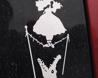 Haunted Mansion Tightrope Walker Car Window Vinyl Decal