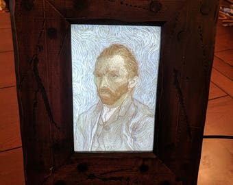Custom 3D Printed COLOR Lithophane in a Lighted Custom Frame