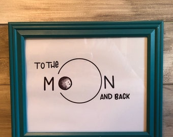 To the moon and back - Art Print