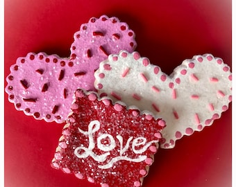 Valentines Day fake Cookie Set